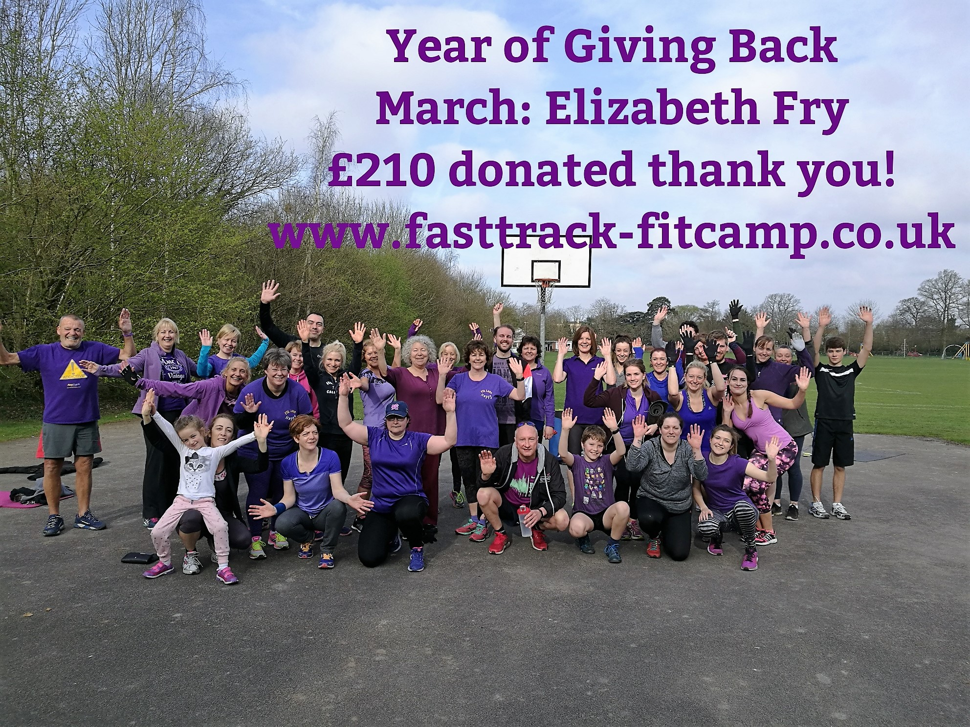 FastTrack Fit Camp raise money for Elizabeth Fry Charity!
