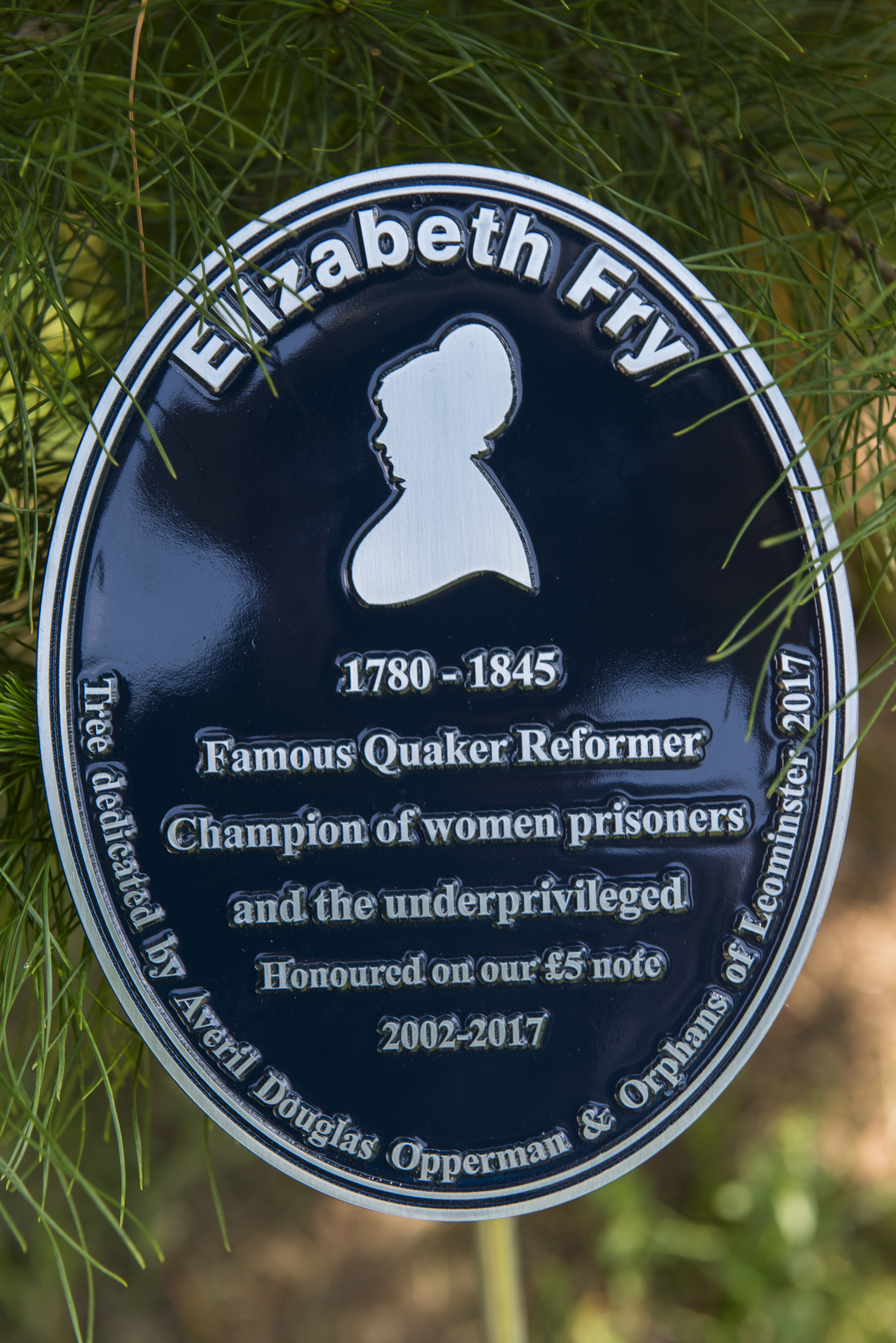 Elizabeth Fry Tree Dedication Event at the National Arboretum 25 May 2017